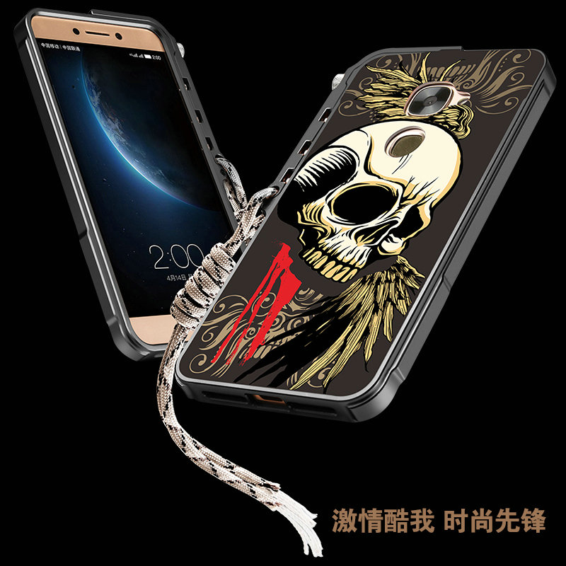 New Fashion 3D Relief Skeleton Skull Patterned Aluminum Metal Bumper Frame Cover For LeEco Letv Le Max 2 Le 2 2Pro Le S3