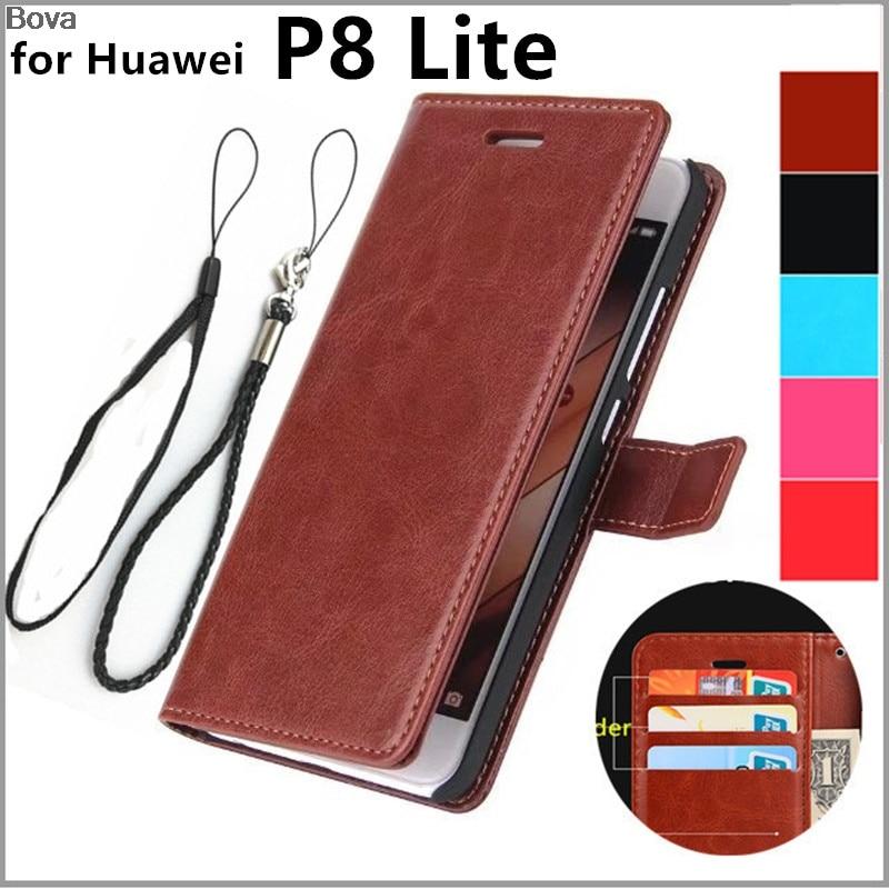 för Capa Fundas Huawei P8 lite korthållare fodral för Huawei Ascend P8 lite läderfodral ultratunna plånbok