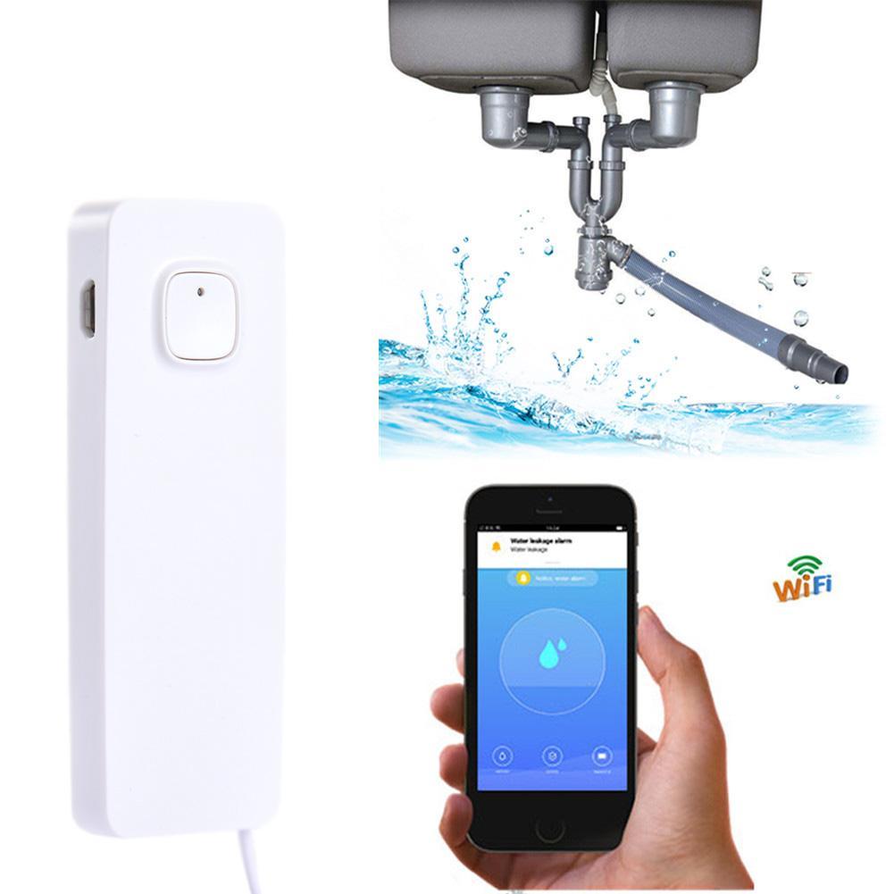 WiFi Water Leak Sensor Alarm With Leak Alert Smart Mobile Remote Control Flood Detector