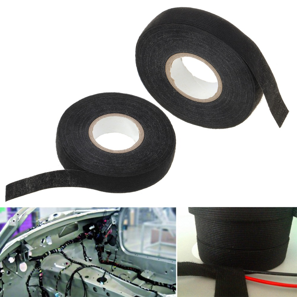 Vehemo 19mmx15m Car Auto Wiring Harness Flannel Adhesive Felt Tape Uk 19mm Cable Protection F02