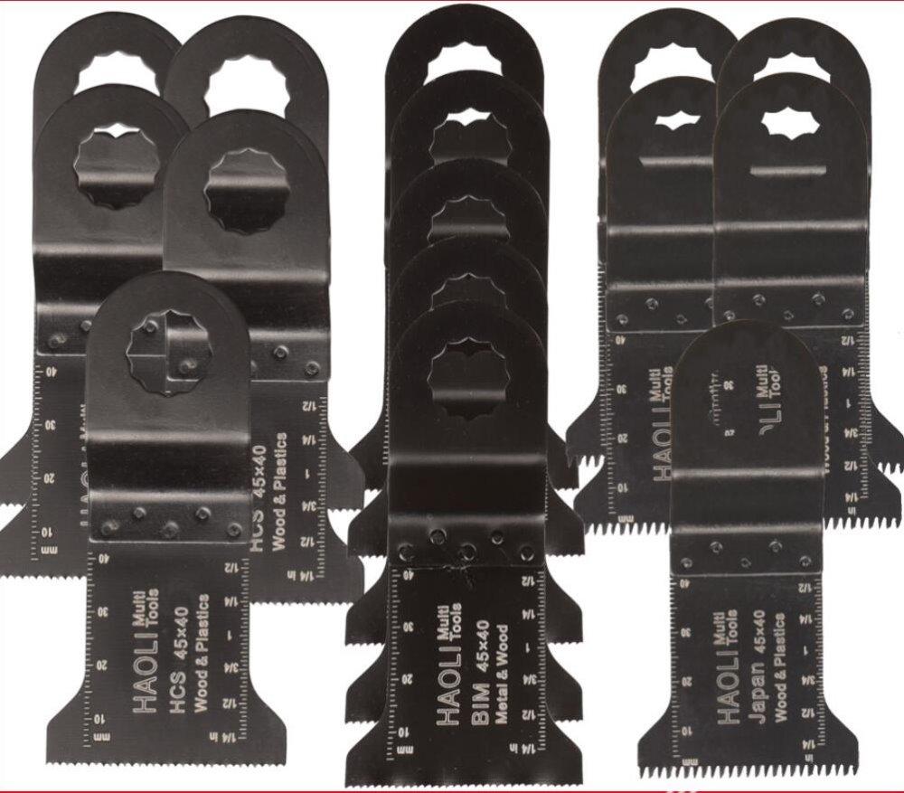 Free shipping 15 pcs 45mm oscillating multi Tool saw blade Accessories for power tool as AEG Ridgid Worx ,wood metal cutting yyp 453h 45mm saw blade