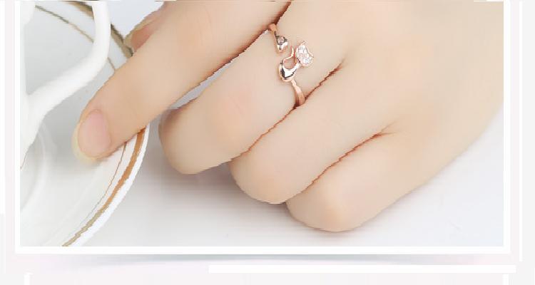 crystal cat ring