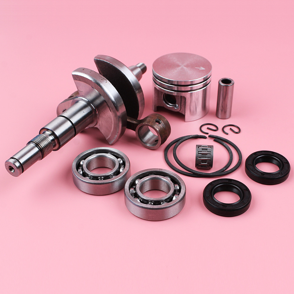 Tools : Crankshaft Crank Shaft For Stihl MS180 018 MS 180 38mm Piston 10mm Pin Bearing Oil Seal Needle Bearing Chainsaw Spare Part