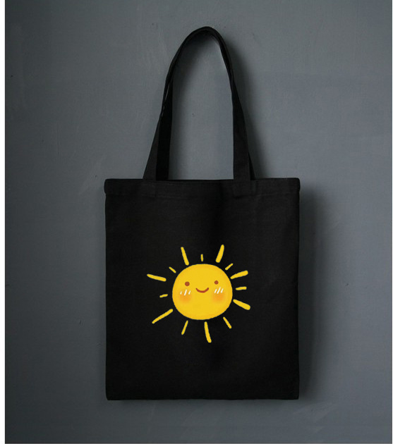 Wome Canvas Shoulder Bags Sun Printed Shopping Bags Casual Cloth Tote Schoolgirl Eco Bag Lady Shopper Bags