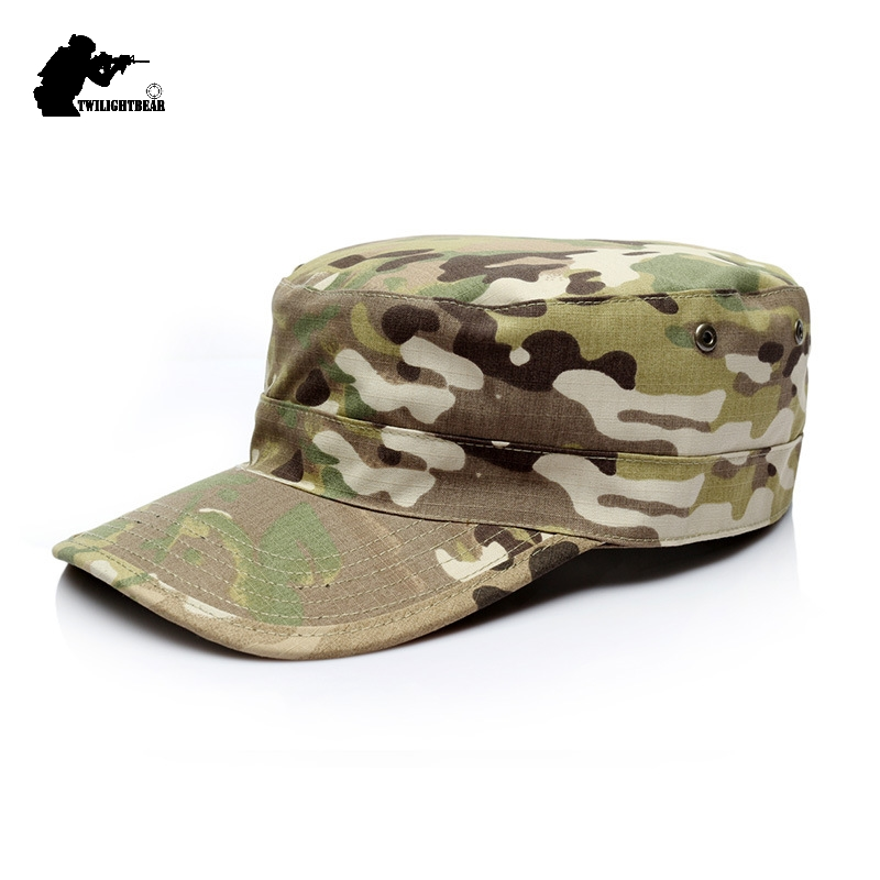58/59/60cm Army Camouflage Military Caps Army Shako High Quality Thickened US RU German Soldier Cap Army Hat KH02