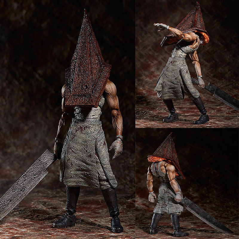 Movie Anime Silent Hill Red Pyramid Thing Figure Model Toy Cartoon Silent Hill Pyramid Head Brinquedos Kids Birthday Jouet Gift the red pyramid