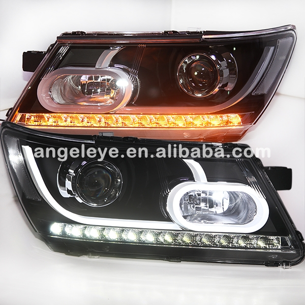 2010 2014 Year For Dodge Journey JCUV LED Head Lamp Headlights front light with HID kit for Land Rover style LF