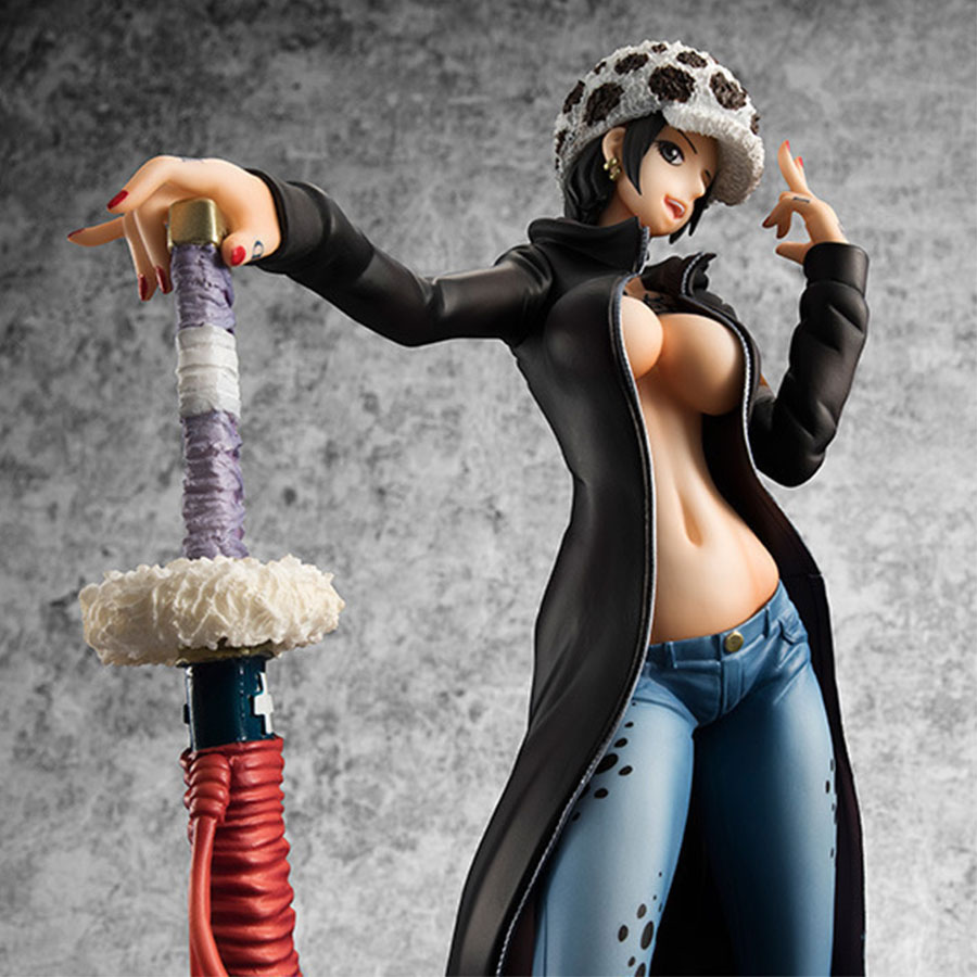 Anime Figure One Piece Popular Trafalgar D Water Law Action Figure 21cm Trafalgar Law Sexy Girl Ver. Collection Model Doll Toys