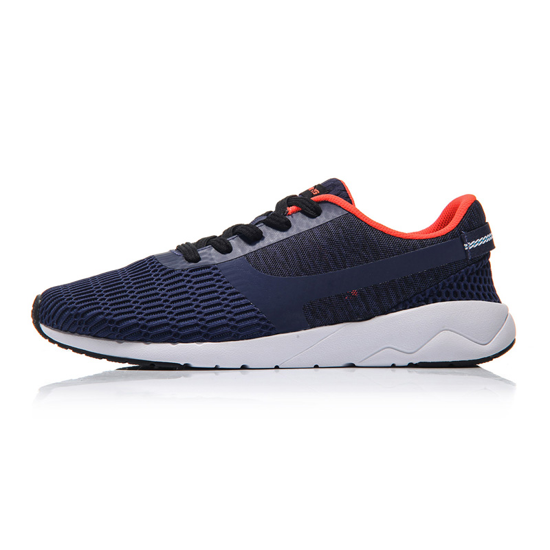 Li-Ning Men Heather Walking Shoes Sports Life Breathable Sneakers Light Weight LiNing Sneakers Sports Shoes AGCM041 YXB041
