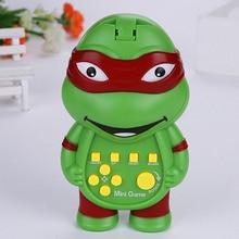 Детские новые электронные игрушки Тетрис, Классическая забавная портативная машина, подарок, фигурка черепахи, многофункциональная головоломка