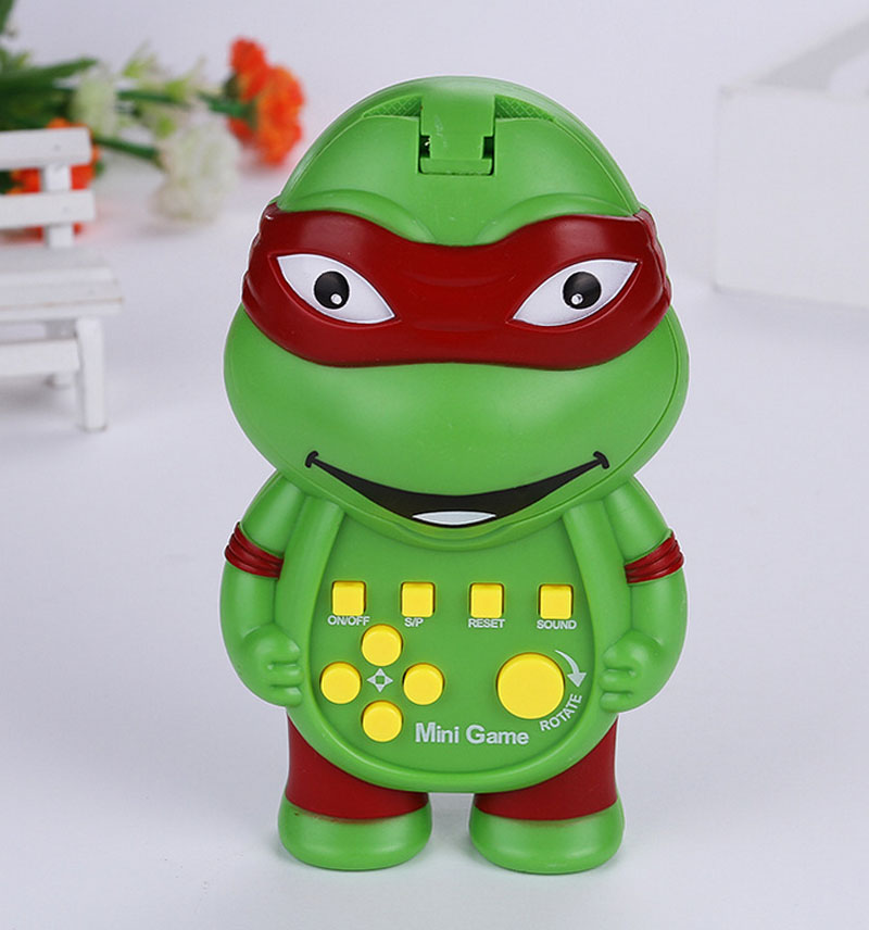 Baby Kids New Electronic Tetris Game Toys Classical Funny Toy Handheld Game Machine Gift Turtle Figure Multi Function Puzzle Toy