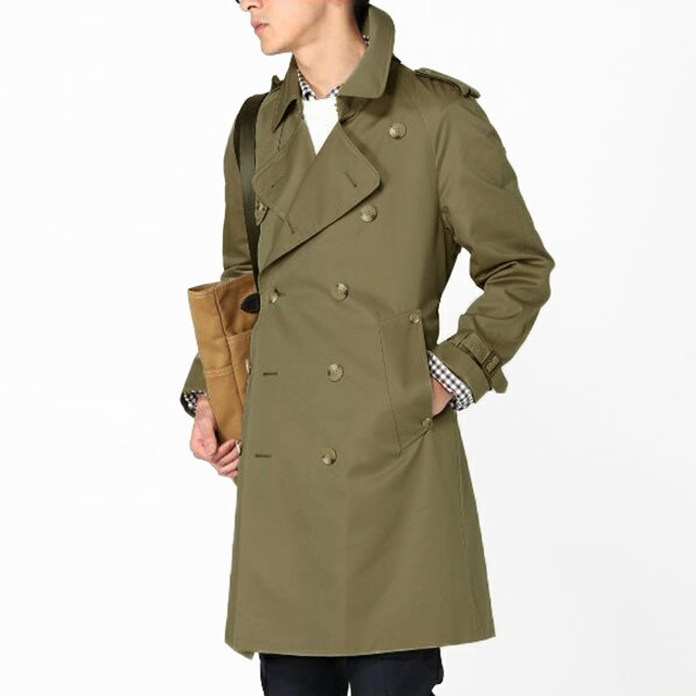 Men's Brand Trench Coat Plus Size custom-tailor England Double-breasted Long Coats Trench Slim Fit Classic Trenchcoat As Gifts