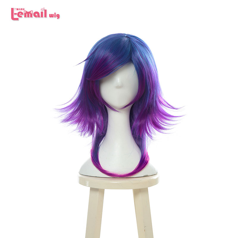 L email wig LOL Neeko Cosplay Wigs The Curious Chameleon Game Cosplay Wig Heat Resistant Synthetic Hair Perucas Cosplay WigSynthetic None-Lace  Wigs   -