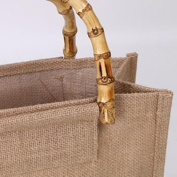 Arsmundi High-Quality Women Men Handbags Cotton Foldable Reusable Shopping Bag Rubbing Cart Eco Shoulder Organization Bag 3