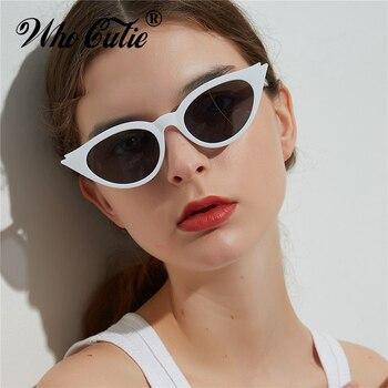 4701d4056 QUE GRACINHA 2018 Red Cat Eye Óculos De Sol Das Mulheres Do Vintage Sexy  Leopardo Cateye Óculos de Sol Quadro Retro Triângulo Preto UV400 Tons 554