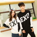 NEW Unisex White Black EXO SBS Sweatshirt 2016 Splice exo Pullovers Print Sweatshirt Casual Kpop Women Hoodies Moleton Feminino