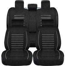 Комплект чехлов для сидений автомобиля из черной льняной ткани