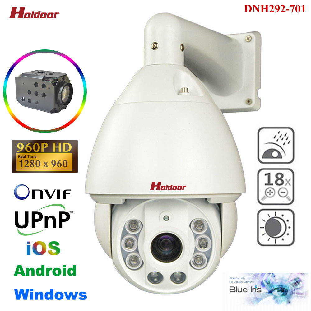 CCTV Security 960P HD High Speed PTZ Pan Tilt Zoom IP Camera Outdoor IR 150M Auto Focus Video Surveillance P2P Onvif DNH292-701 hd 1 3mp ip ptz high speed dome outdoor camera mini 6 18x pan tilt zoom onvif network megapixel 720p 960p security cctv p2p