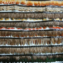 1 méter természetes fácán tollak szegélyszalag, DIY dekoratív ruházat, sapka, fejdísz, kézműves és egyéb művészeti kiegészítők