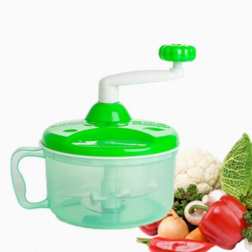Powerful Manual Meat Grinder Hand-power Food Chopper Mincer Mixer Blender to Chop Meat Fruit Vegetable Nuts Herbs
