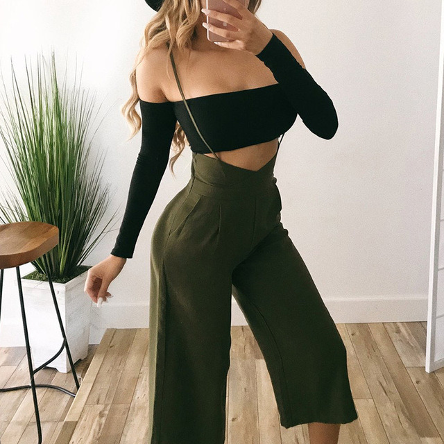 Ladies Jumpsuits Elegant Body Suit Off The Shoulder Overalls For Women Clothing One Piece Pants Casual Bodycon Rompers Jumpsuit