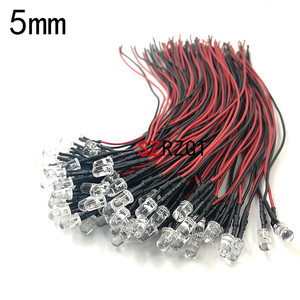 20pcs lot 20cm Pre Wired 3mm 5mm LED Light Lamp Bulb Prewired Emitting Diodes For DIY Home Decoration DC12V(China)