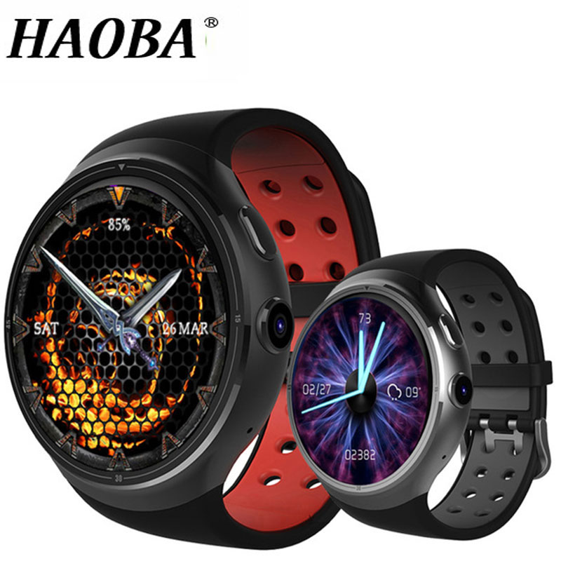 HAOBA 3G Smart Watch Bluetooth Heart Rate Pedometer Support SIM Card GPS WIFI Smartwatch with RAM 1GB ROM 16GB For Android IOS makibes tempered glass for meizu m3 note meilan note 3 gold