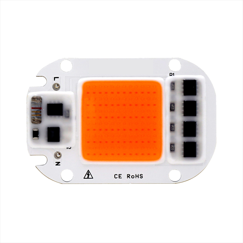 10pcs Hydroponice AC110V 220V 20W 30W 50W COB LED Grow Light Chip Full Spectrum Day Warm White For Indoor Plant Seedling Growth