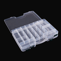 Double Layers Grid Design Fishing Lure Storage Portable Lure Fishing Box Tackle With Adjustable Compartment