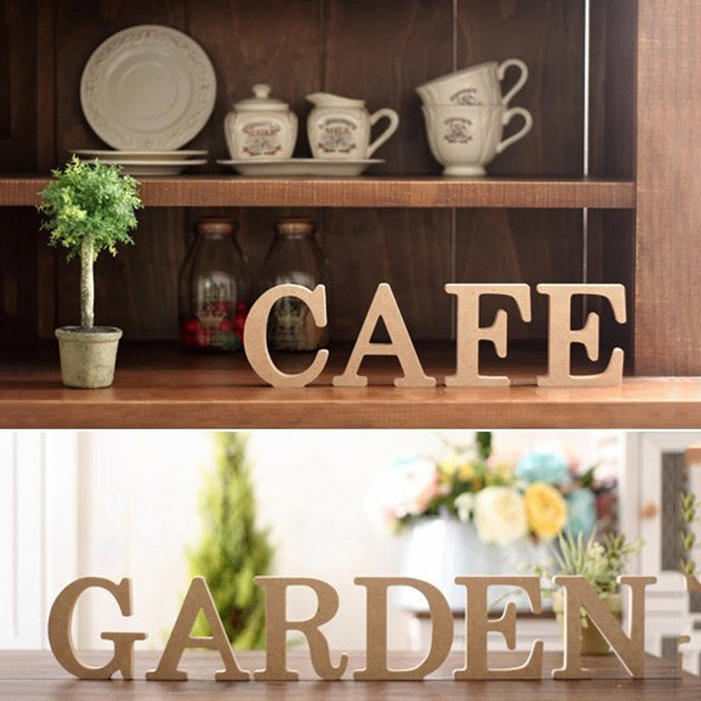 Wooden 26 Letters Wedding Birthday Party Decor Home