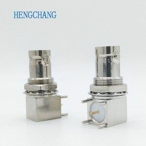 Image 1 - 10 Cái/lốc 5pin Đồng Mạ Nickel RF Đồng Trục Nối BNC Cái Ổ Cắm Vách Ngăn Góc PCB Gắn Đầu Nối BNC