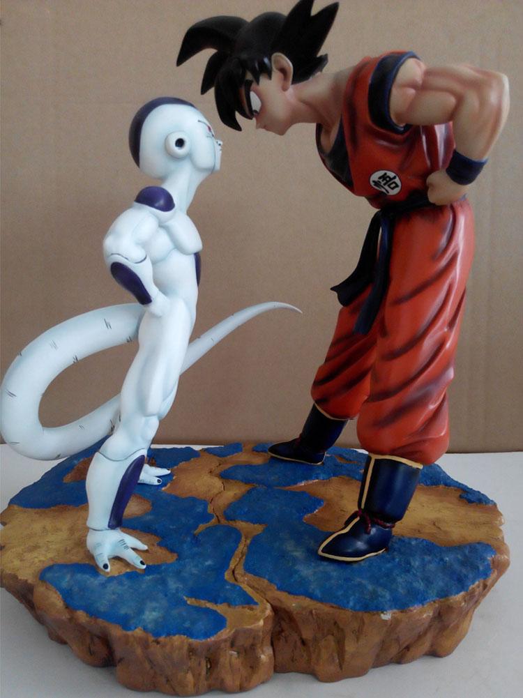 MODEL FANS Anime Dragon Ball Z 30cm Son Goku VS 25cm Freeza Resin GK Action Figure Toys [show z store] fanstoys ft 08x grinder fans toys iron dinobots no 5 masterpiece grimlock premium paint figure