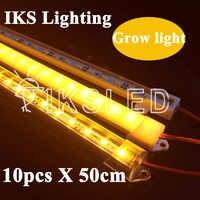 10pcs*50cm 5730 led rigid strip Full spectrum RED And BLUE LED Grow Light Hydroponic Green House Garden Flower Light LED Plant