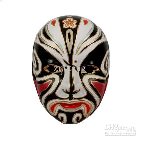 Unique Beijing Opera Masks Chinese Style Paper Pulp Full Face Magnificent Paper Mache Masks To Decorate