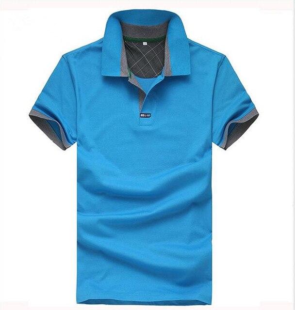 Новый 2017 мужская Поло Рубашки Для Мужчин Дизайнер Поло Мужчины Хлопка С Коротким Рукавом майки Бизнес ShirtsFree Доставка