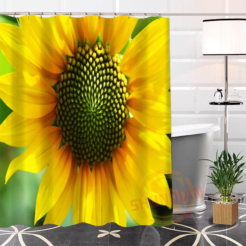 Best Nice Custom Flowers Yellow Sunflower Shower Curtain Bath Curtain  Waterproof Fabric For Bathroom MORE SIZE - Online Get Cheap Sunflower Shower Curtain -Aliexpress.com