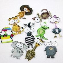 Creative Cartoon animal monkey Elephant icon Acrylic magnetic stickers Fridge Magnets Home Decor Ref