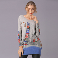 2018 New Winter Full Long Women Sweater Clothing Casual Novelty Women's Sweaters Pullovers Fashion Print Ladies Pullover Clothes
