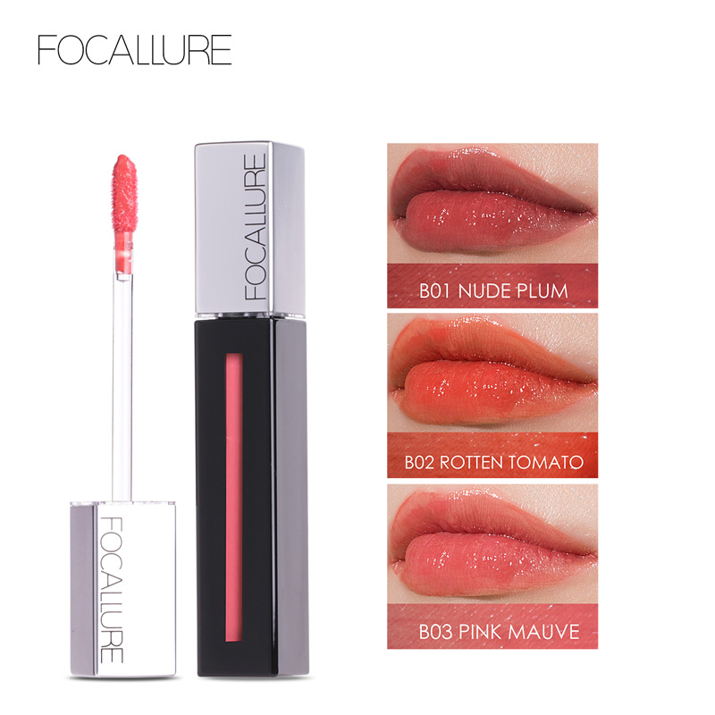 FOCALLURE 2018 3D New Cream Long Lasting Lip Stain Ins So Hot Volume Lipgloss Tint Beauty Sexy Lips Makeup image