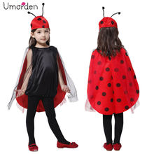 Umorden Carnival Party Halloween Costumes Child Kids Lovely Ladybug Costume Cosplay for Girl Fancy Dress Outfit(China)