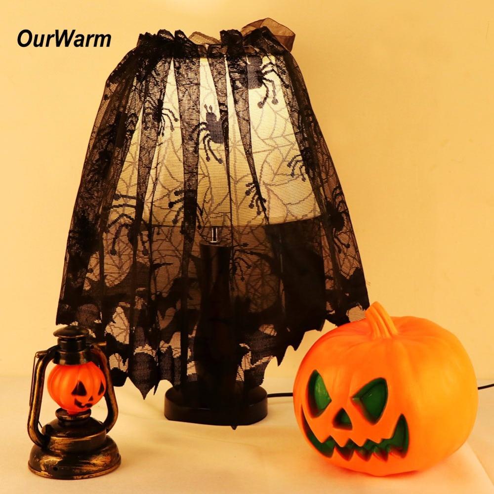 Ourwarm Spider Web Landshade Topper or Lamp Shades Halloween ...