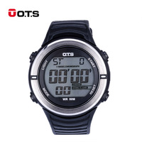 O T S Sport Relogio Masculino Fashion Waterproof Stop Watch LED Digital Display Electronic Wristwatches For