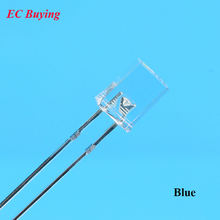 100pcs 3V Rectangle LED 2X5X7mm Blue Quare LED Diode Transparent Water Clear LED Light Emitting Diode Lamp