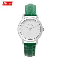 Abrray Simple Rose Gold Women Watch Genuine Leather Strap Quartz Wristwatches Waterproof Japanese Movement Ladies Watches