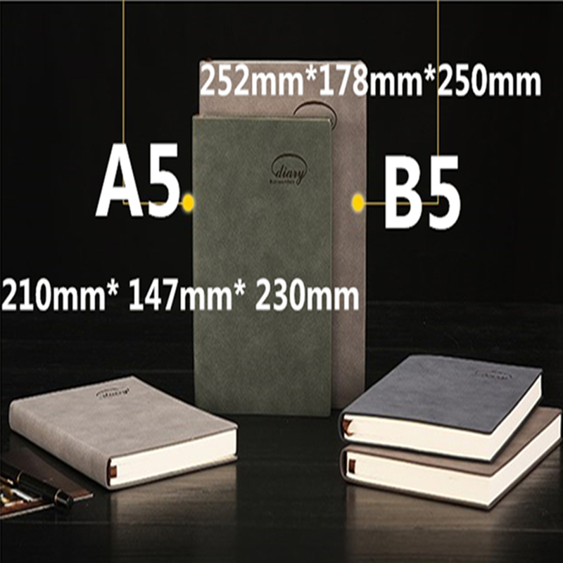 Classic inbundna kontors skola notebook papper, fint bandage - Block och anteckningsböcker