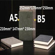 Продажа Классический переплет офис школьной тетради канцелярские тонкой повязки планировщик ноутбук, 4 вида внутренняя бумаги: пустой линии сетки в горошек, A5B5