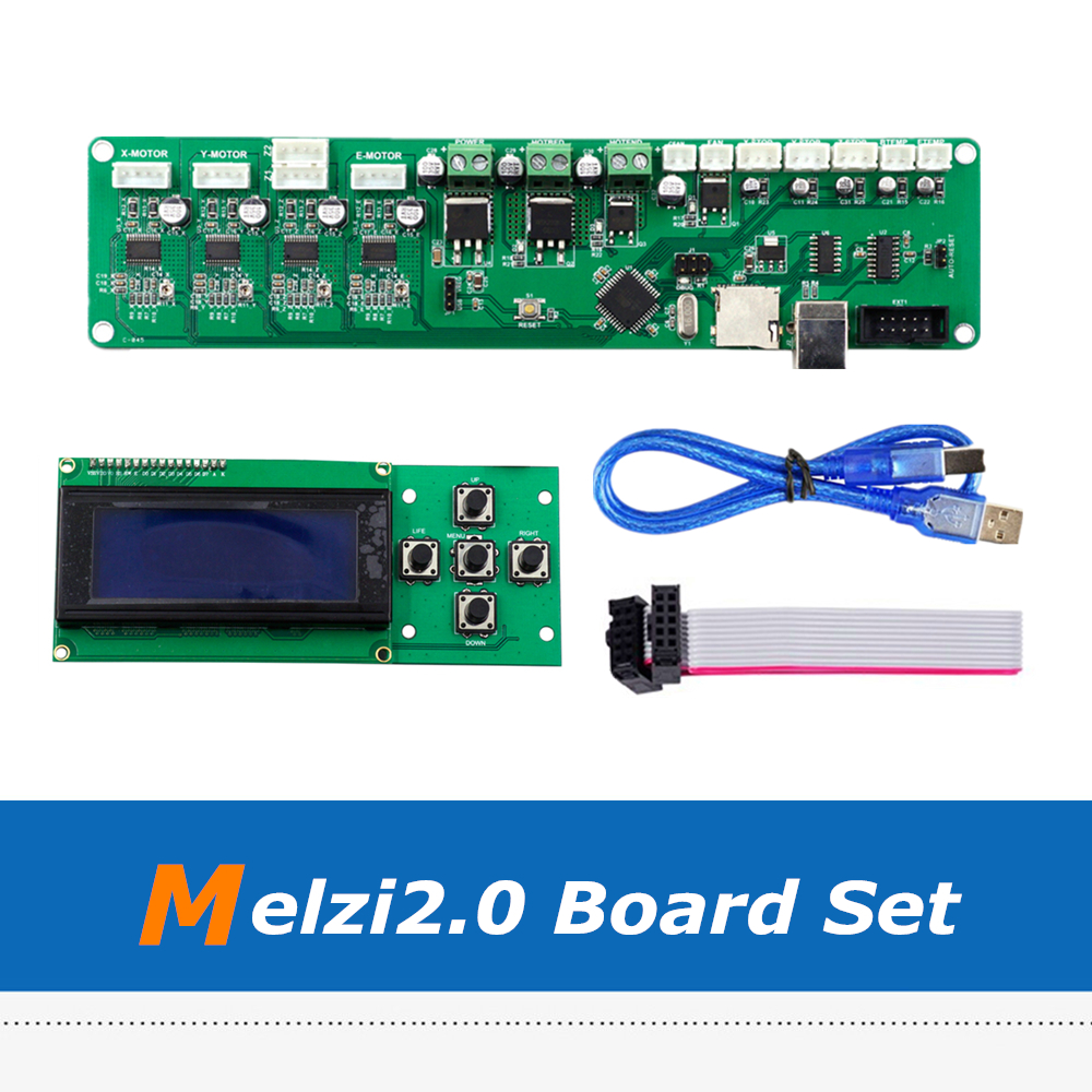 3D Printer Control Board Set Reprap Melzi 2.0 ATMEGA1284P Mainboard + 2004LCD Screen melzi 1284p