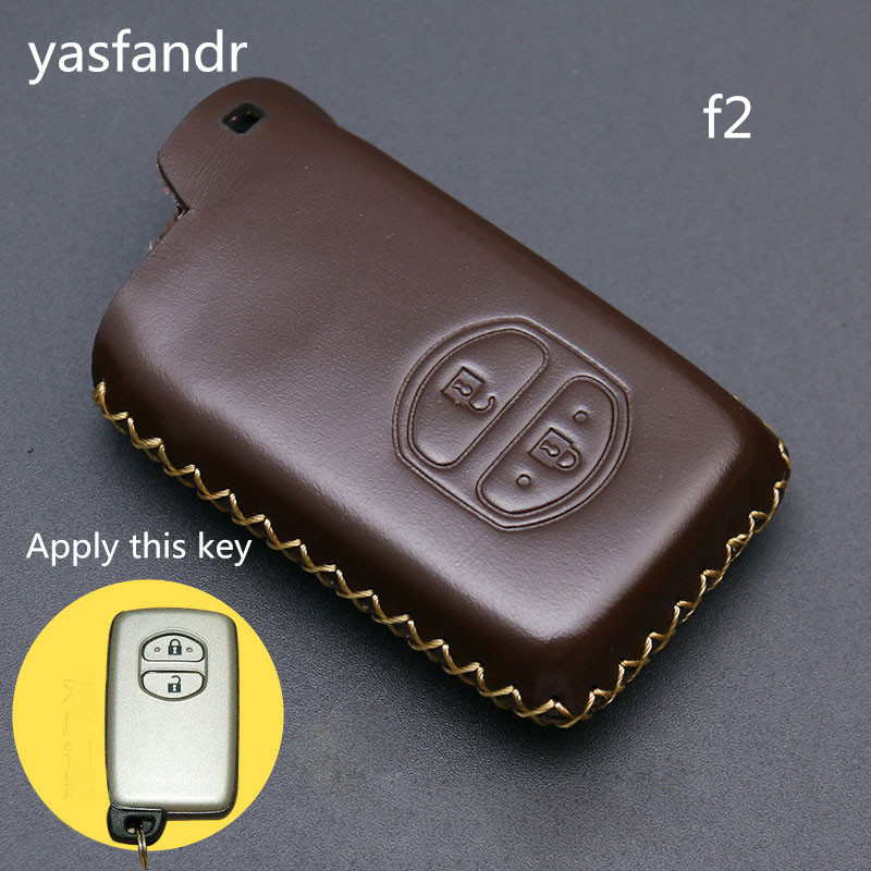 2 Buttons Car Key Holder Case Cover for TOYOTA Camry Highlander Crown Prado Land Cruiser Hilux Prius car key cover shell-in Key Case for Car from Automobiles & Motorcycles