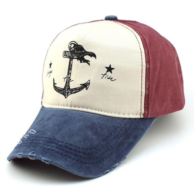 5e9554960ed Quality Women Men Baseball Caps Casual Vintage Anchor Letter Prints Gorras  Adjustable Snapback Caps Out Door Casquette Hats