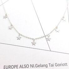 2018 New Boho Women chocker gold Silver Chain star choker Necklace collana Kolye Bijoux Collares Mujer gargantilha Collier Femme